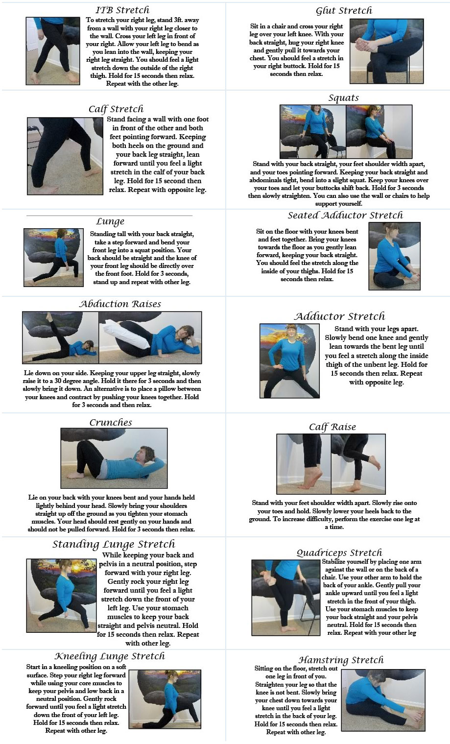 Hip & Knee Patient Stretch and Exercise Guide