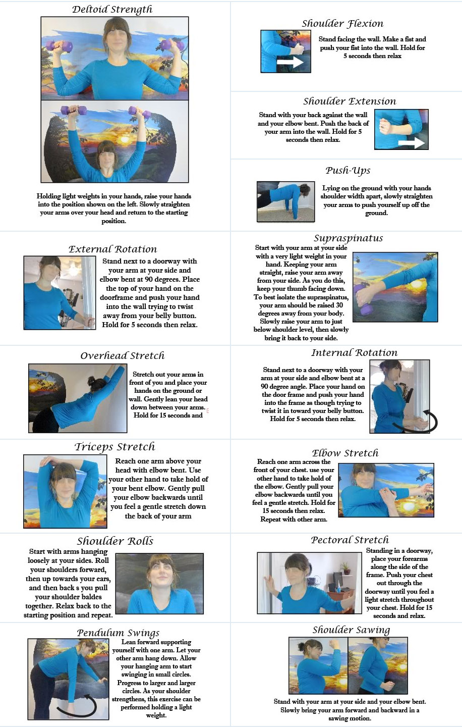Shoulders Patient Stretch and Exercise Guide 2